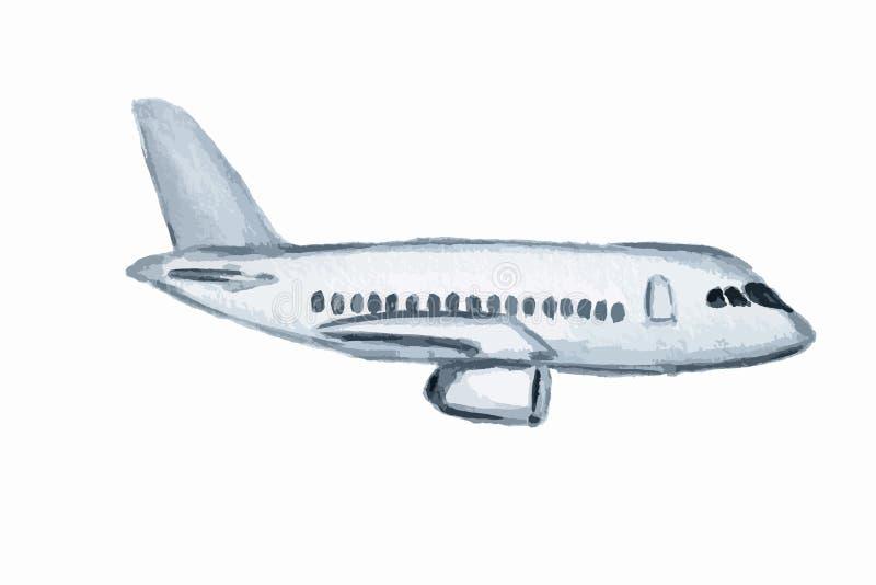 aereo dell'acquerello illustrazione vettoriale