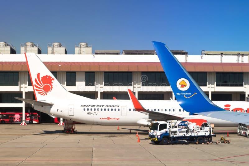 Aereo dell'aria e di Lion Air della NOK immagine stock libera da diritti