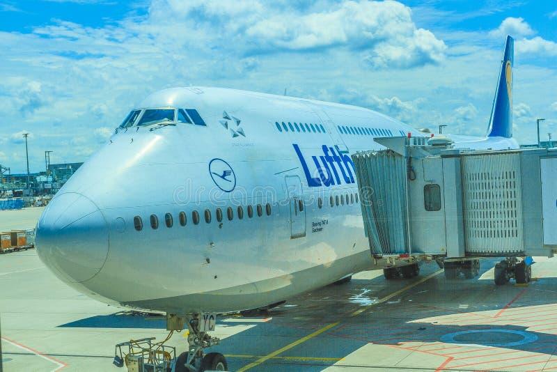 Aereo delle compagnie aeree di Lifthansa fotografia stock