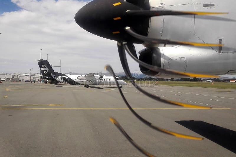 Aereo di aria da Air New Zealand fotografia stock libera da diritti