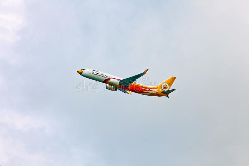 Aereo di aria della NOK in cielo fotografie stock
