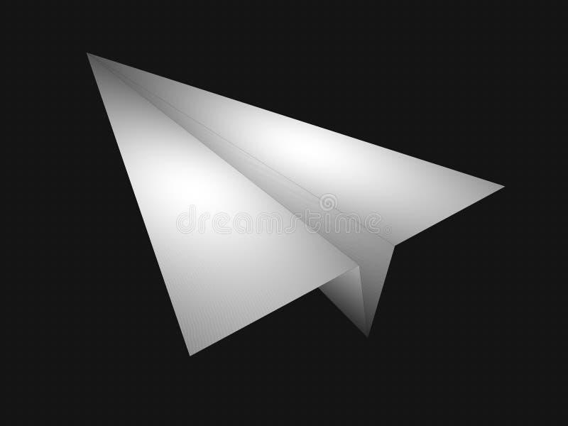 Aereo di carta illustrazione vettoriale
