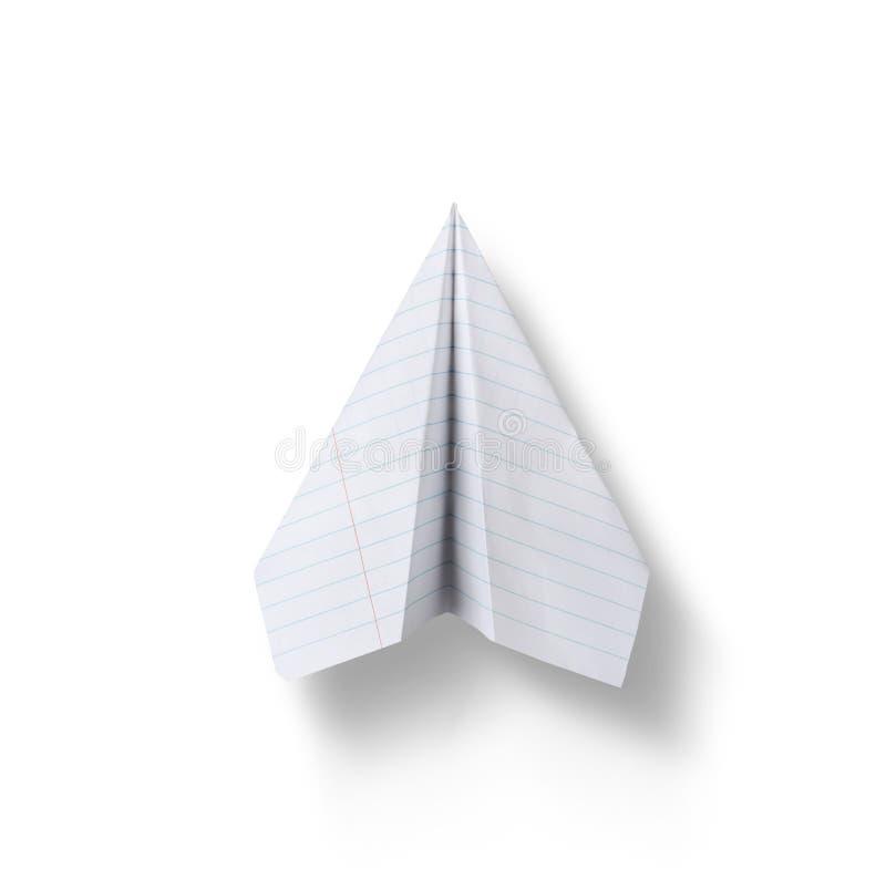 Aereo di carta isolato su fondo bianco immagini stock libere da diritti