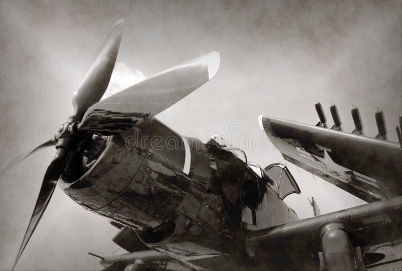 Aereo di combattimento di era della seconda guerra mondiale fotografia stock