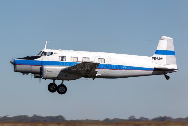 Aereo di trasporto del mandriano VH-ADN di de Havilland Australia DHA-3 piccolo che è stato costruito da de Havilland Australia n fotografia stock libera da diritti