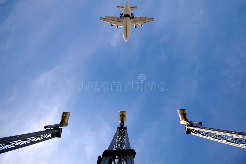 Aereo ed aeroporto fotografie stock