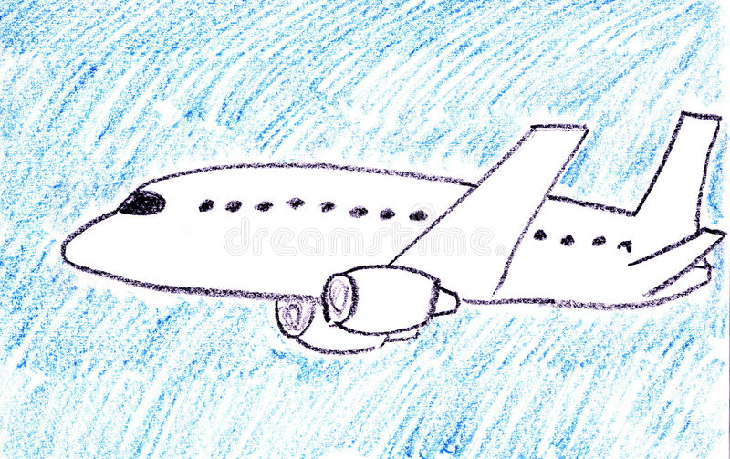 Aereo passeggeri illustrazione di stock