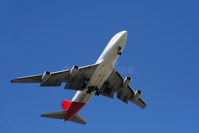 Aereo passeggeri durante il volo immagine stock libera da diritti