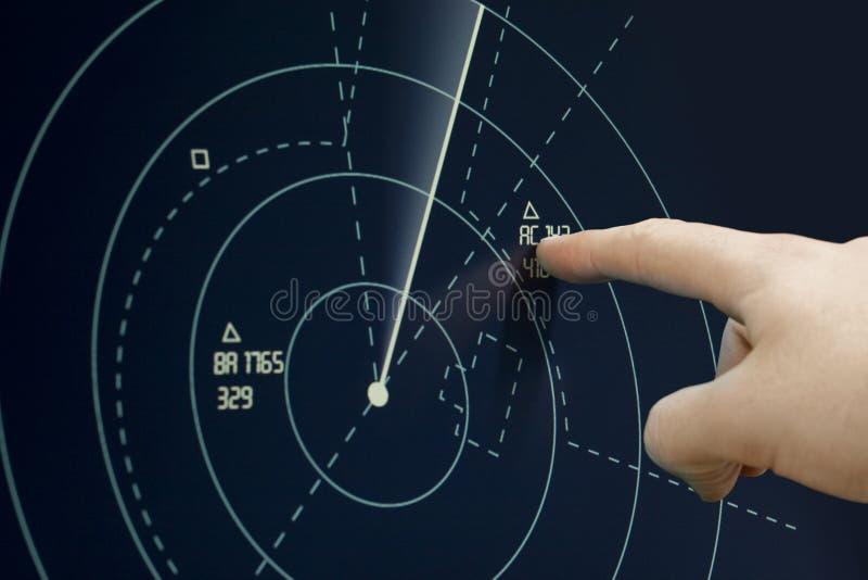 Aereo sul radar immagini stock libere da diritti