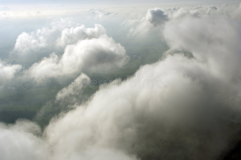 Aerial above clouds stock photos