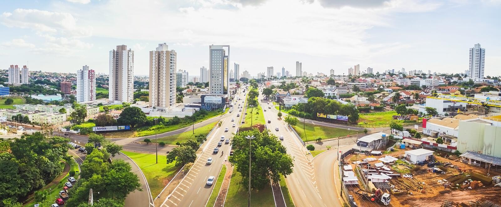 Aerial Afonso Pena avenue view royalty free stock photography