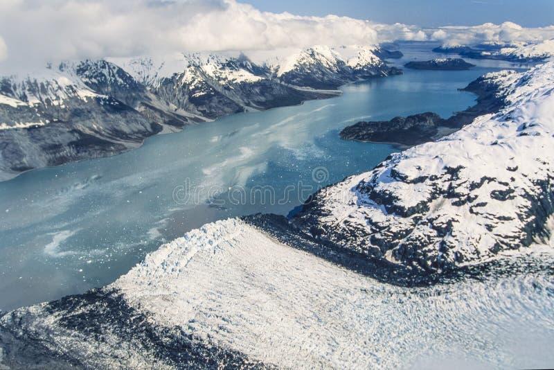 Aerial of Alaska, Glacier Bay National Park. Aerial image of Alaska Glacier Bay National Park stock image