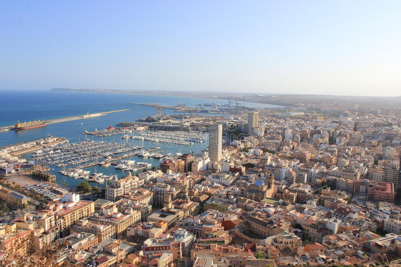 Download Aerial of alicante stock photo. Image of ships, marina - 25852418
