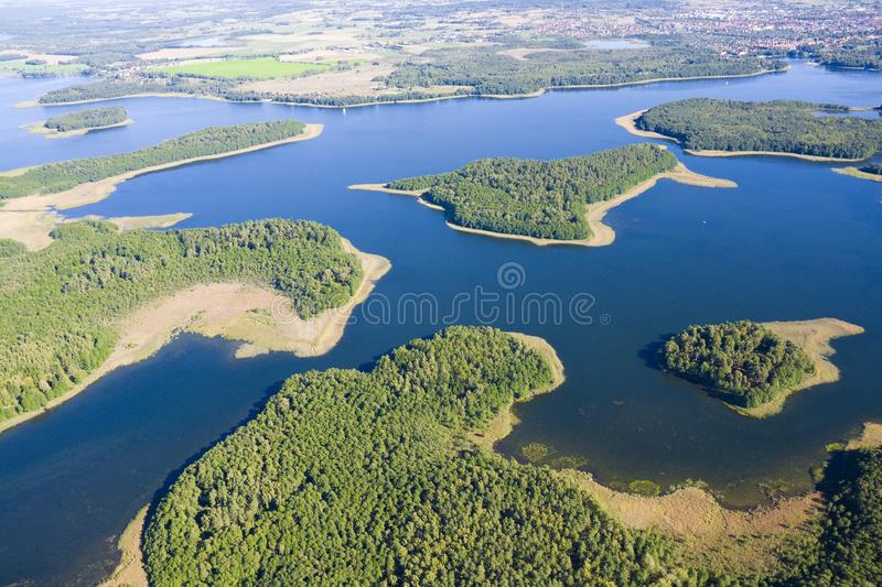 Aerial autumnal view of Mazury royalty free stock images
