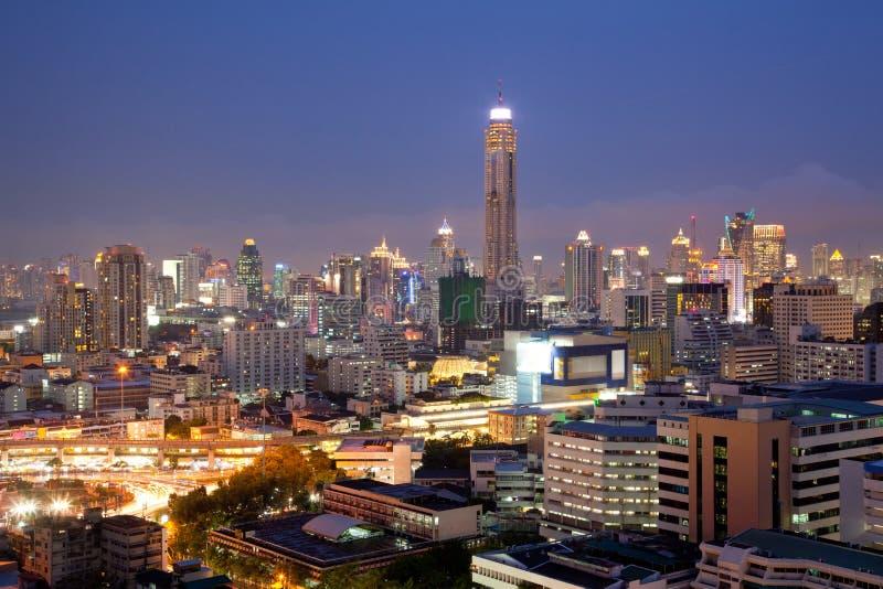 Aerial Bangkok Skylines Royalty Free Stock Images