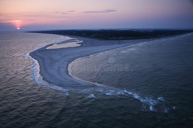 Aerial of beach. stock photos