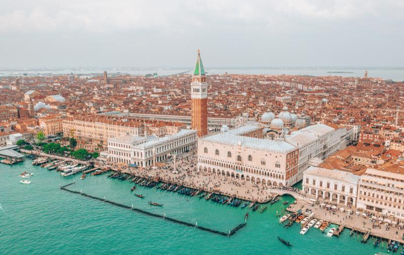 Beautiful view over San Marco square in Venice royalty free stock photos