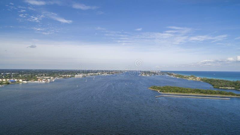 Aerial Boynton Beach, Florida royalty free stock image