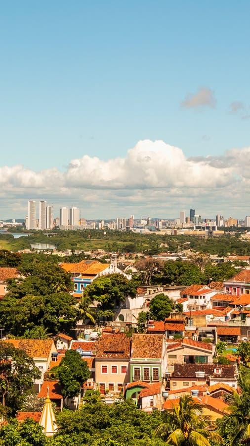 Aerial view of Olinda and Recife in Pernambuco, Brazil stock image