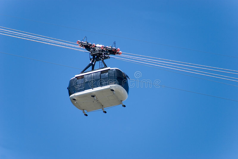 Download Aerial cable car stock photo. Image of underside, suspended - 6449228
