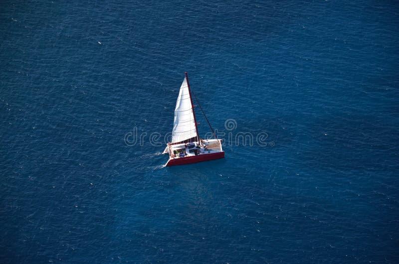 Aerial Catamaran stock photos