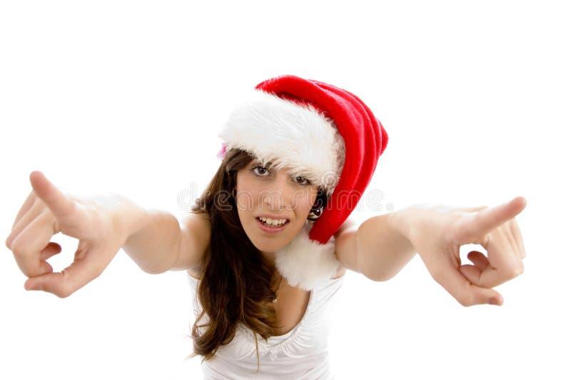 aerial christmas female hat view wearing στοκ εικόνα