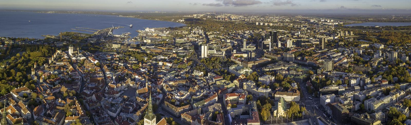 Aerial of city Tallinn, Estonia. Aerial of city Tallinn Estonia royalty free stock photo