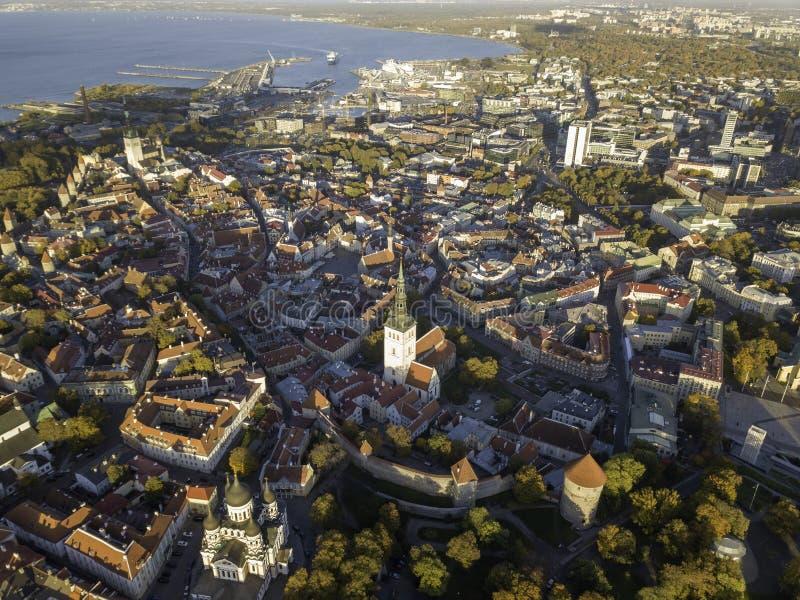 Aerial of city Tallinn, Estonia. Aerial of city Tallinn Estonia stock image