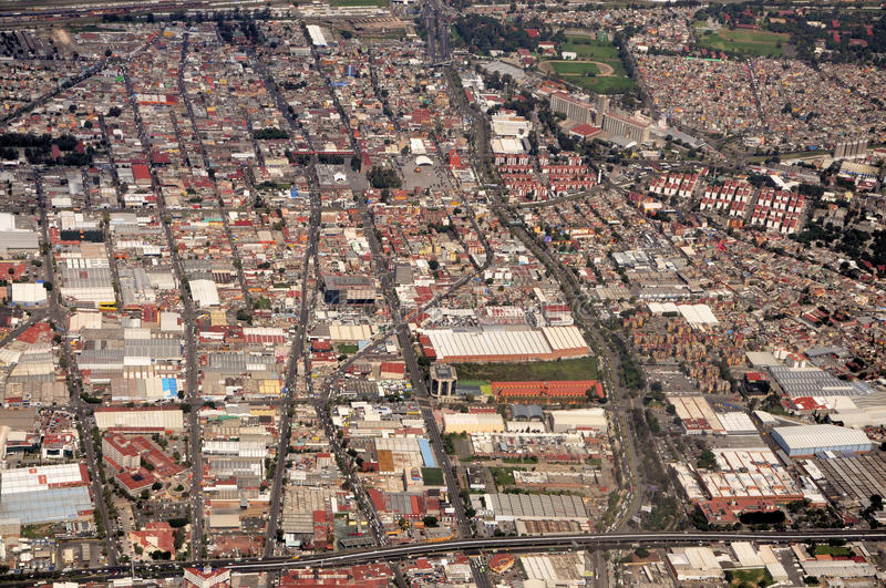 Download Aerial Mexico City View stock image. Image of aerial - 30618063
