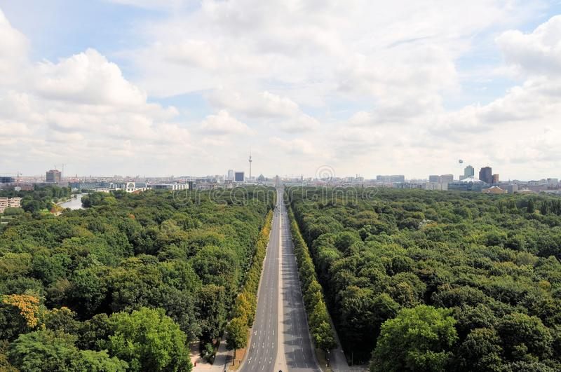 Aerial cityscape of Berlin with Tiergarten park. Berlin, Germany. Capital city architecture aerial view with Tiergarten park and the TV tower from the top of stock photos