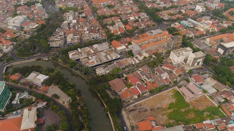 Surabaya capital city east java, indonesia royalty free stock photos