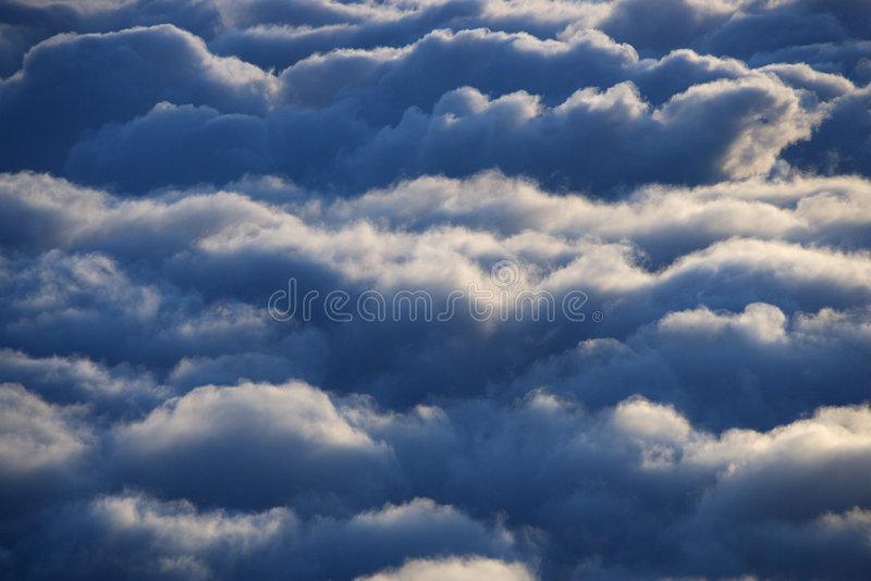 Aerial of clouds. stock images