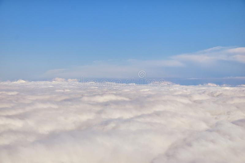Aerial Cloudscape view over Nashville on flight over Tennessee during autumn. Grand sweeping views of landscape and clouds. Views royalty free stock photos