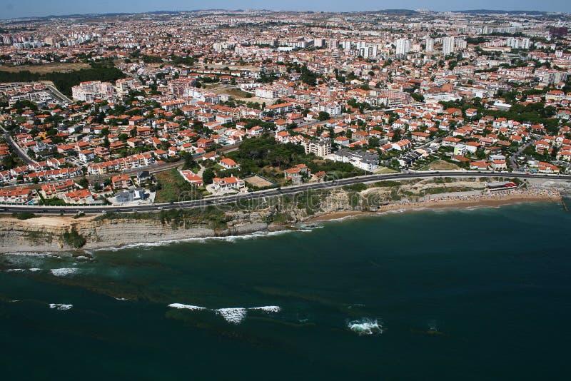 Aerial Coastline View With Sandy Beach Royalty Free Stock Photos