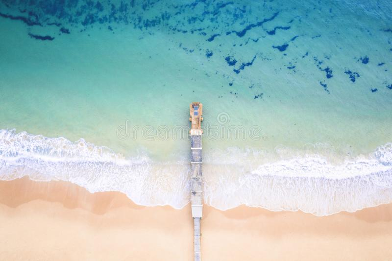 Aerial Collaroy Beach Australia. Collaroy Beach Australia on Sydney`s northern beaches. Aerial perspective stock images