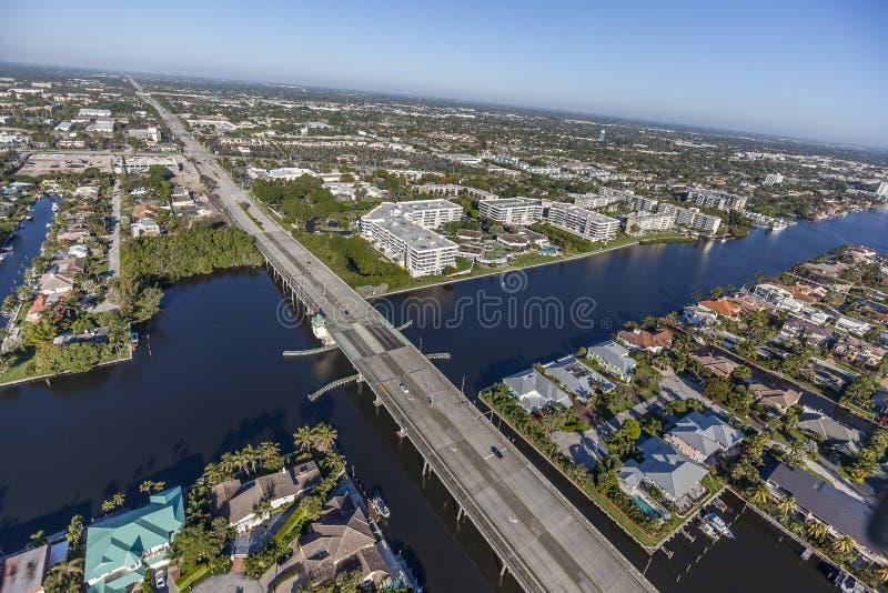 Aerial Delray Beach, Florida. Aerial, Bird Eye View from Delray Beach, USA royalty free stock image