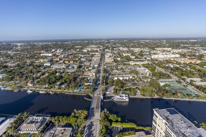 Aerial Delray Beach, Florida. Aerial, Bird Eye View from Delray Beach, USA royalty free stock photos