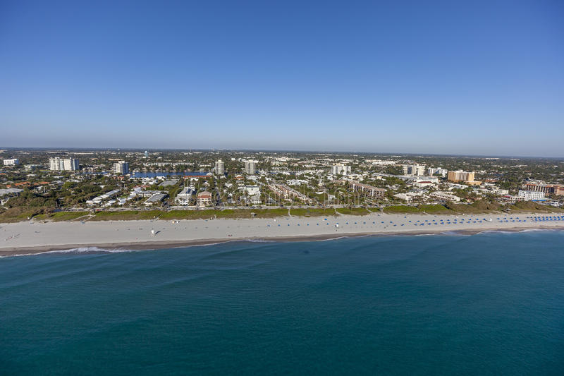 Aerial Delray Beach, Florida. Aerial, Bird Eye View from Delray Beach, USA stock photography