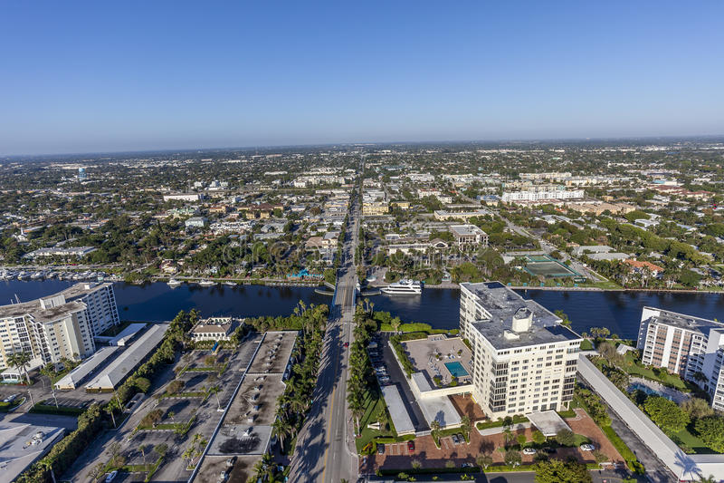 Aerial Delray Beach, Florida. Aerial, Bird Eye View from Delray Beach, USA stock images