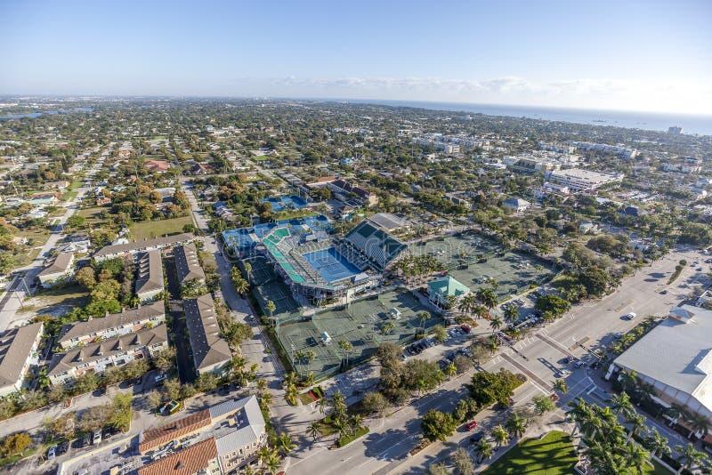 Aerial Delray Beach, Florida. Aerial, Bird Eye View from Delray Beach, USA stock photo