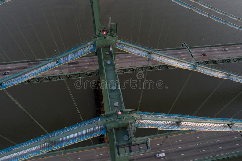 Aerial drone image of the Delaware Memorial Bridge. Aerial drone image Delaware Memorial Bridge stock photography