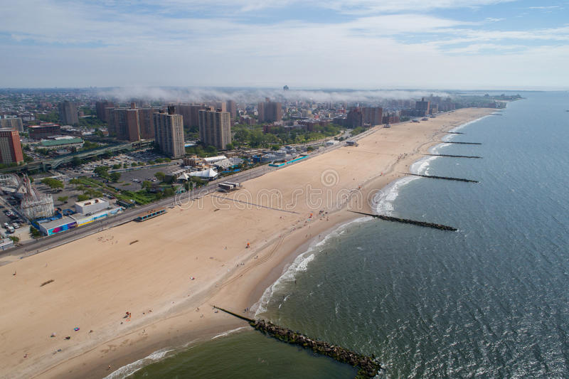 Aerial drone photo of Coney Island New York USA stock photography