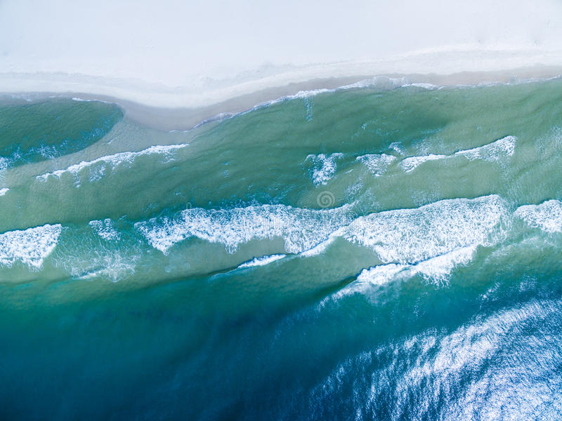 Aerial Drone Photo - Ocean stock images
