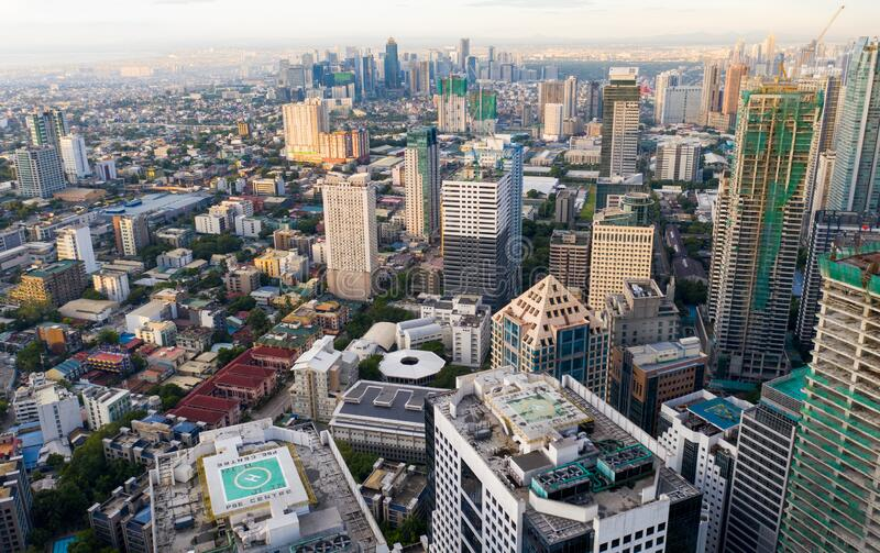 EARLY MORNING VIEW METRO MANILA, PHILIPPINES royalty free stock photography