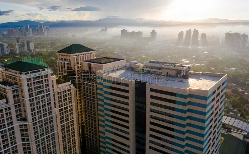 EARLY MORNING VIEW METRO MANILA, PHILIPPINES royalty free stock photo