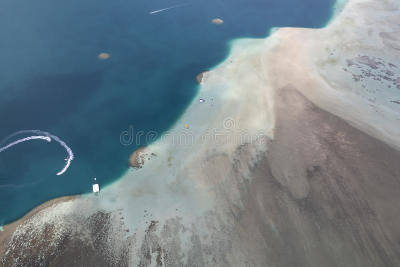 Aerial of the East side Oahu Hawaii royalty free stock images