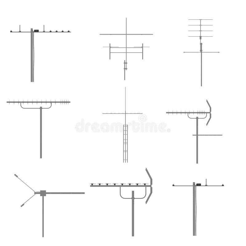 Download Aerial equipments set stock illustration. Image of outdoor - 23823861