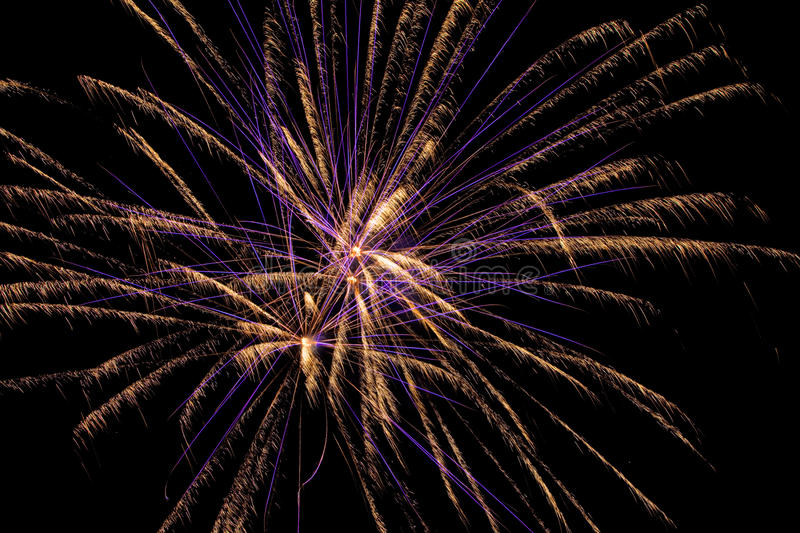 Aerial Fireworks Show stock image