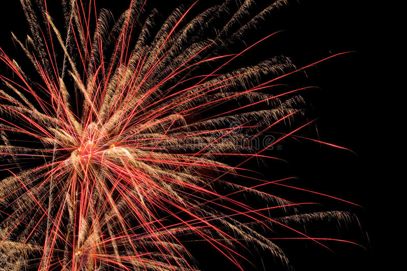 Aerial Fireworks Show stock photography