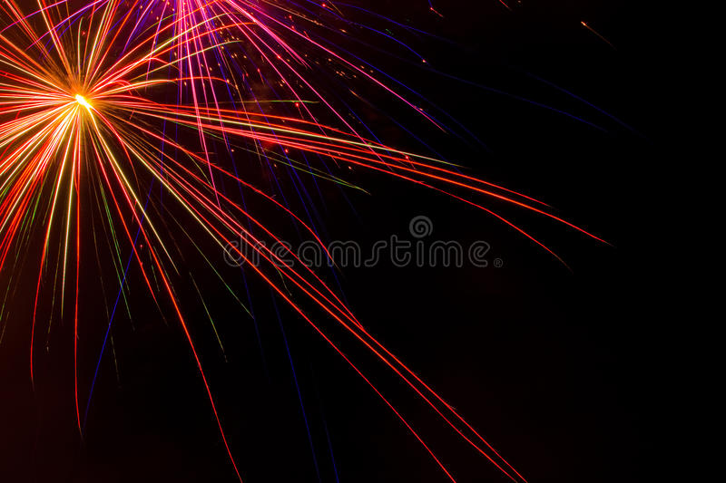 Aerial Fireworks Show royalty free stock image